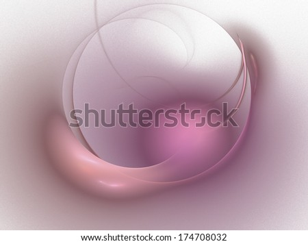 stylized glowing sphere, red, purple on white - stock photo