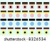 stylized licorice allsorts all shapes - stock photo