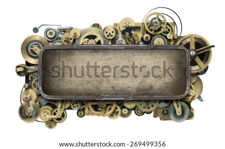 Stylized mechanical clockwork background.  - stock photo