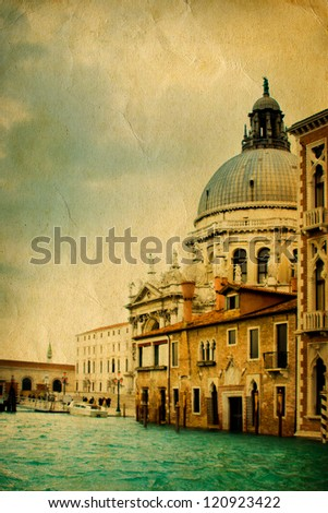 Stylized photo of Grand Canal in Venice