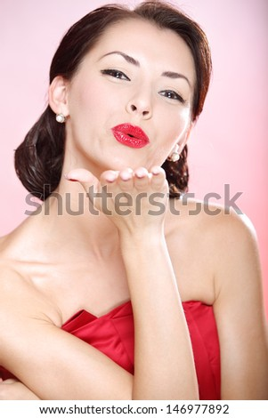 Stylized retro portrait of a young woman
