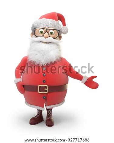 Stylized Santa Claus character - Christmas backgroud illustration - stock photo