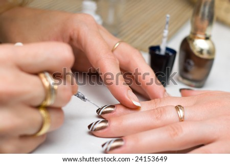 Stylizing the colored nails