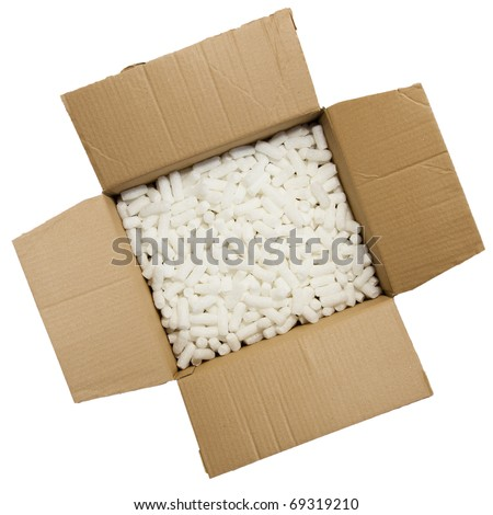 Styrofoam in a box