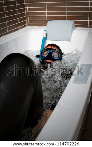 sub immersion - stock photo