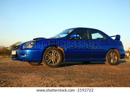 Subaru Impreza - Concept of Fast Performance Vehicles - stock photo