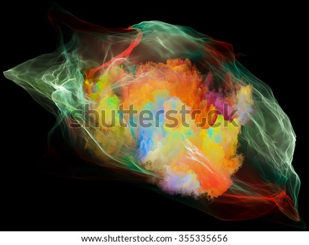 Subjective Neuron series. Background design of abstract shapes, colors and elements on the subject of mind, virtual reality, technology, science and design - stock photo
