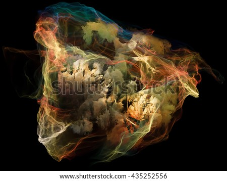 Subjective Neuron series. Composition of abstract shapes, colors and elements suitable as a backdrop for the projects on mind, virtual reality, technology, science and design - stock photo
