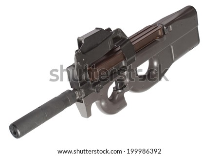 submachine gun P90