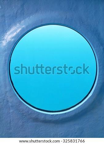 Submarine window - stock photo