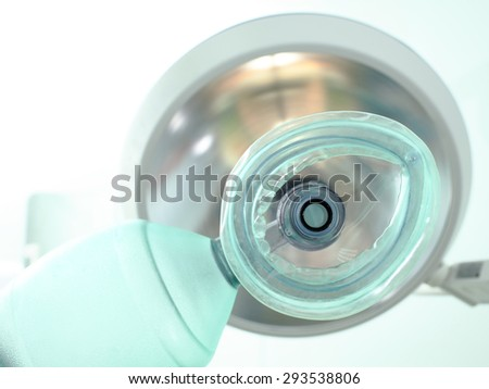 Submission of anesthesia before surgery in hospital - stock photo