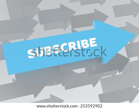 SUBSCRIBE - stock photo
