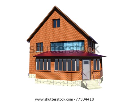 suburb house - stock photo