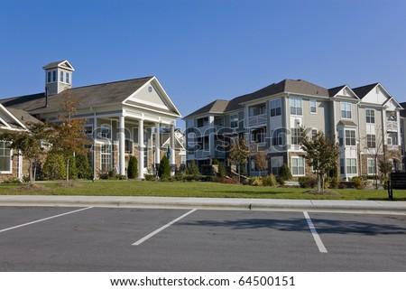 Suburban apartment complex - stock photo