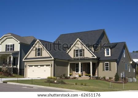 Suburban house - stock photo