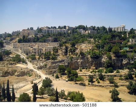 Suburbs of Jerusalem - stock photo