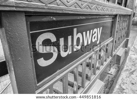 Subway entrance.