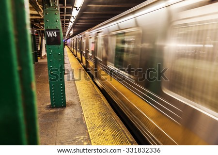 subway in New York City - stock photo