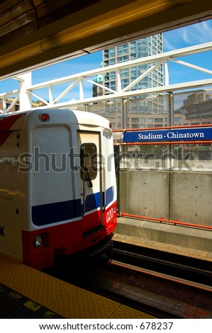 subway in Vancouver, chinatown station, - stock photo