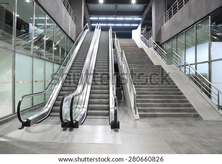 Subway stairs - stock photo