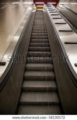 subway station elevator - stock photo