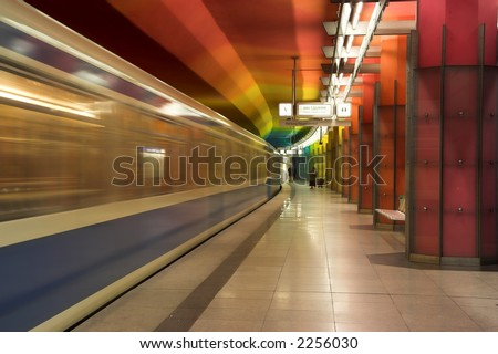 Subway station in Munich, Germany