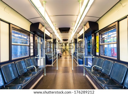 subway wagon in Milan - stock photo