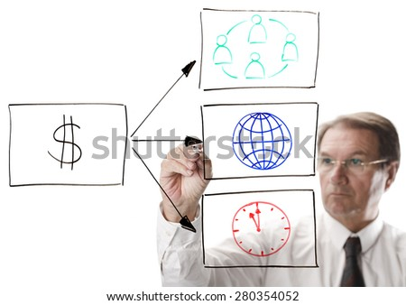 Succesful business needs a efficient team world reach and effective timelines - stock photo