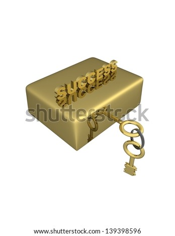 success, a golden key opens the way to success