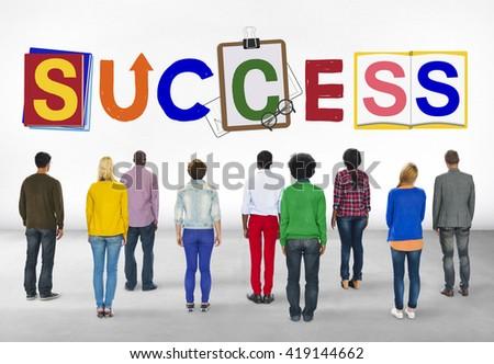 Success Achievement Improvement Progress Result Concept - stock photo