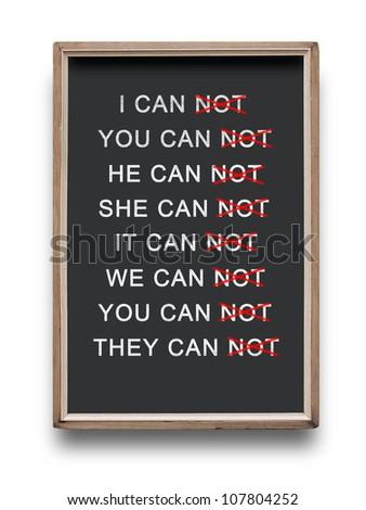 Success and blackboard - stock photo
