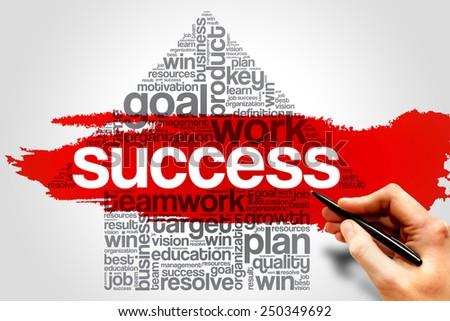 Success Arrow word cloud, business concept - stock photo