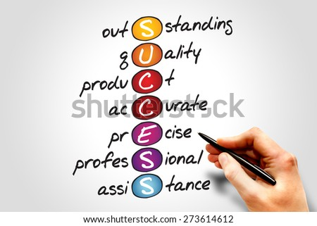 SUCCESS, business concept acronym - stock photo