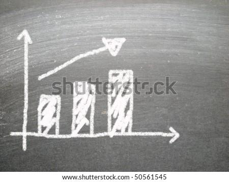 success chart - stock photo