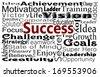 Success concept word cloud - stock photo