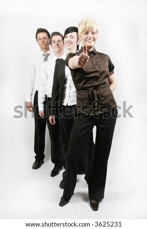 success for the businessteam - stock photo