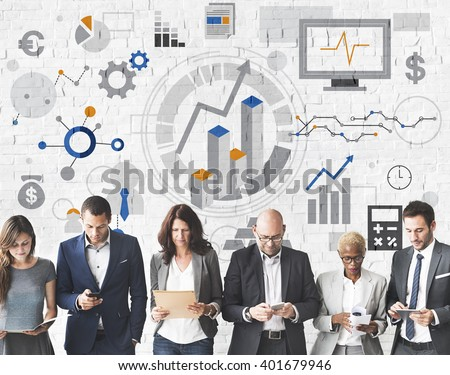 Success Goals Analysis Corporate Business Concept - stock photo
