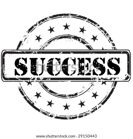 success grunge rubber stamp background - stock photo