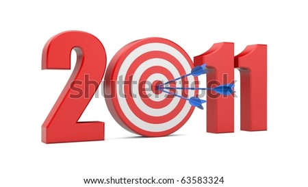 Success in new year. Image contain clipping path - stock photo