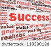 Success message poster design. leadership conceptual design - stock vector