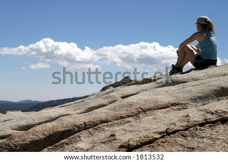 Success Mountain II - stock photo