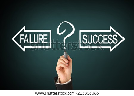 Success or failure - stock photo