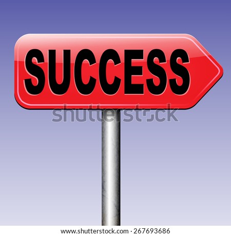 success road to and key for successful business and life - stock photo