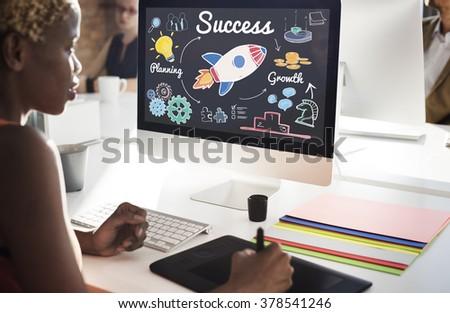 Success Start up Innovation Growth Improvement Concept - stock photo
