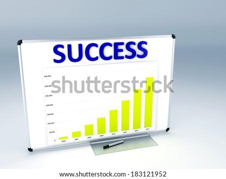 success  statistic graph - stock photo