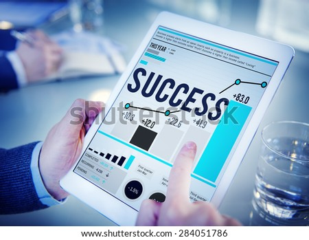 Success Successful Goal Achievement Complete Concept - stock photo