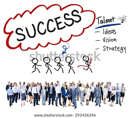 Success Talent Vision Strategy Goals Concept - stock photo