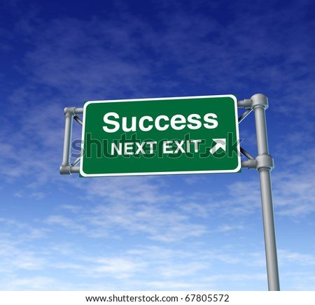success win Freeway Exit Sign highway street symbol green signage road symbol