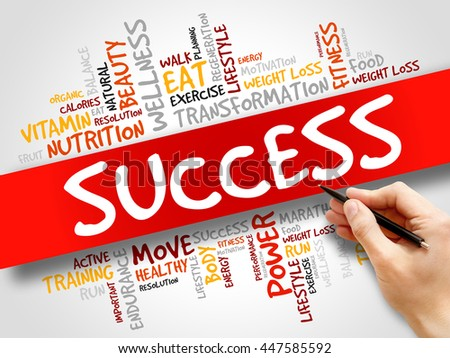 Success word cloud, fitness, sport, health concept - stock photo