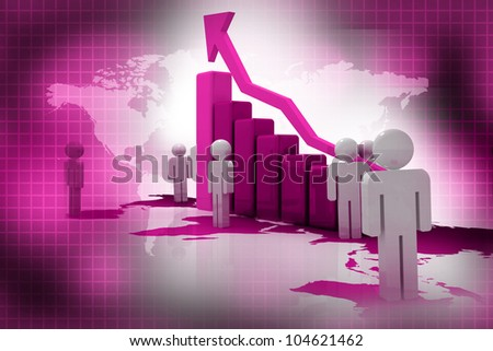 Successful business in abstract background - stock photo